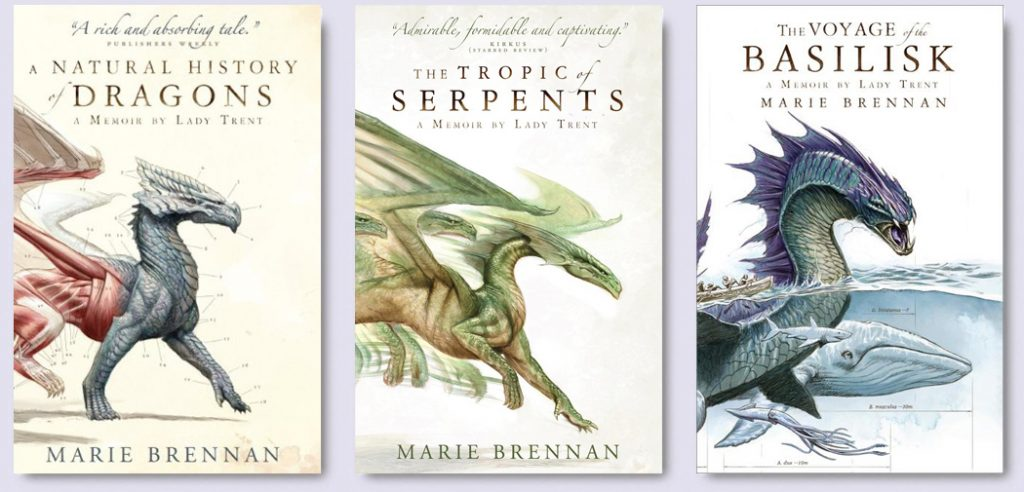 A natural history of dragons, The tropic of serpents & Voyage of the Basilisk